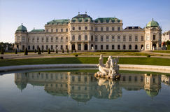 Vienna - Belvedere palace. In morning Royalty Free Stock Image