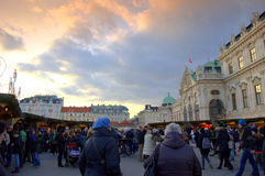 Vienna Belvedere Palace at Christmastime Royalty Free Stock Photo