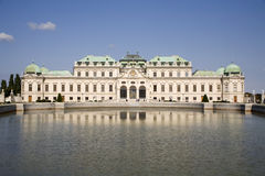 Vienna - Belvedere palace - fountain Stock Images