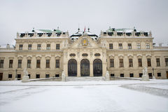 Free Vienna - Belvedere Palace In Winter Royalty Free Stock Photography - 13242457