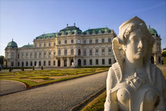 Vienna - Belvedere palace and sphinx Stock Image