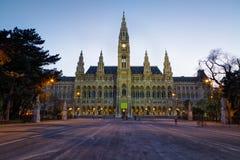 Vienna& x27; câmara municipal de s & x28; Rathaus& x29; Foto de Stock