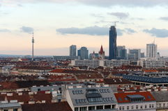 Vienna - capital of Austria. According to the results of  research agency Mercer, Vienna took first place in the world for quality Stock Photo