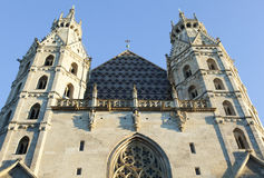 Vienna Cathedral Facade Royalty Free Stock Photo