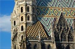 Vienna: Cathedral Stephansdom. Vienna: detail of the  St. Stephen´s Cathedral (Stephansdom Stock Photos
