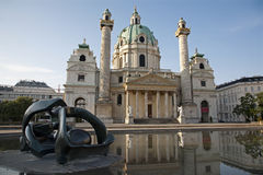 Vienna - Charles Boromeo baroque church Royalty Free Stock Photography