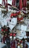 Vienna Christmas decorations. Wooden Christmas decorations in Vienna. Austria Stock Photos