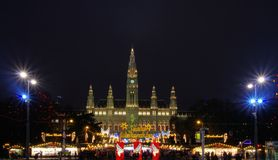 Vienna christmas market Royalty Free Stock Photography