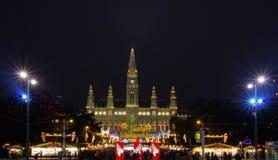 Vienna christmas market. Vienna, the christmas market in Austria Royalty Free Stock Photography