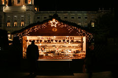 Vienna Christmas market. In Museum District. Stall with sweets Royalty Free Stock Photos