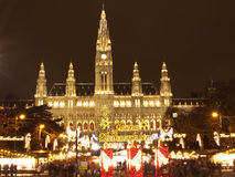 Vienna Christmas Market Rathaus Royalty Free Stock Photography