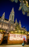 Vienna Christmas market in front of the City Hall Rathaus Stock Image