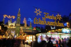 Vienna christmas market Stock Photos