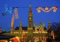 Vienna christmas market Royalty Free Stock Image