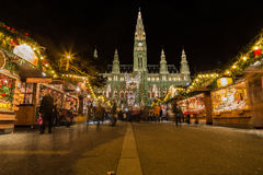 Vienna Christmas Markets at Rathaus Stock Images