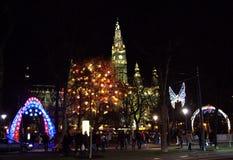 Vienna Christmas spirit at night Royalty Free Stock Image