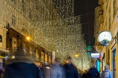 Vienna at Christmas time. Austria Royalty Free Stock Images