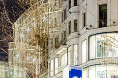 Vienna at Christmas time stock photography