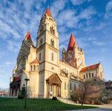 Vienna, Church Heiliger Franz of Assisi at Mexikoplatz, Austria Royalty Free Stock Photography