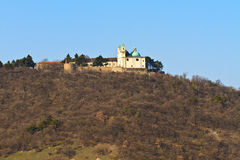 Vienna - Church on Leopoldsberg Mountain Royalty Free Stock Image