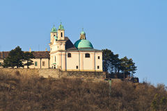 Vienna - Church on Leopoldsberg Mountain Stock Images