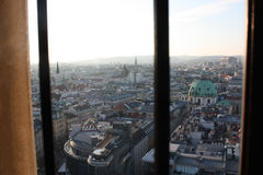 Vienna city. Austria. Aerial view from St. Stephens Cathedral. Royalty Free Stock Photos