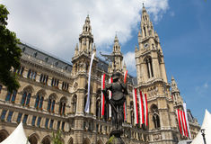 Vienna City Hall Royalty Free Stock Photography
