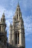 Vienna City Hall main tower Stock Photos