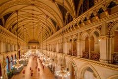 Ballroom in the Vienna City Hall, Austria Royalty Free Stock Image