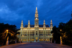 Vienna city hall Royalty Free Stock Images