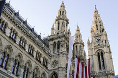 Vienna city hall Stock Image