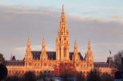 Vienna City Hall, Wiener Rathaus, Austria Stock Images