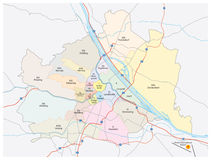 Vienna city map Royalty Free Stock Photography