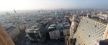 Vienna City Panorama Royalty Free Stock Image