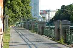 Vienna city park. In the downtown Stock Photography