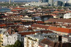 Vienna, city of past and future - Austria. Vienna, city of past and future - A panoramic view of the city of Vienna in Austria stock photography