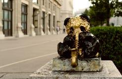 Vienna city panda statue Stock Image
