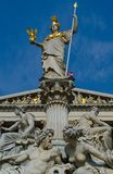 Vienna parliament fountain Royalty Free Stock Images