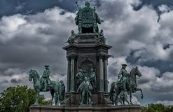 Vienna queen statue Royalty Free Stock Image