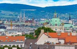 Vienna city skyline Stock Photography