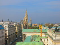 Vienna city skyline Stock Photo
