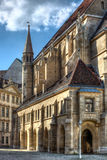 Vienna city street with catherdral Royalty Free Stock Image