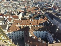 Vienna city view from above. Royalty Free Stock Image