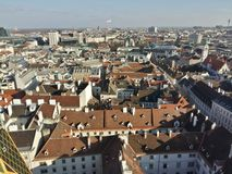 Vienna city view from above. Stock Photography