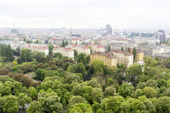 Vienna cityscape aerial view Royalty Free Stock Photo