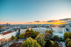 Vienna cityscape in Austria Royalty Free Stock Images
