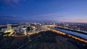 Vienna cityscape at night Stock Photo