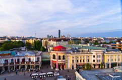 Vienna cityscape at sunset, a view from a giant wheel at Prater Royalty Free Stock Images