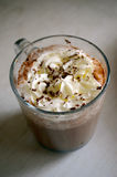 Vienna coffee topped with whip cream Royalty Free Stock Photography