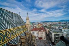 Vienna dalla st Stephens Cathedral immagine stock